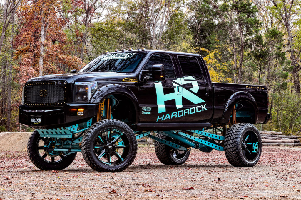 H703 Hardcore 26x14 Satin Teal Ford F350 Hardrock Offroad Wheels