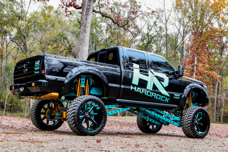 H703 Hardcore 26×14 Satin Teal Ford F350 Hardrock Offroad Wheels