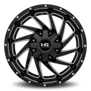 Hardrock H704 20x9 Black Milled Windows