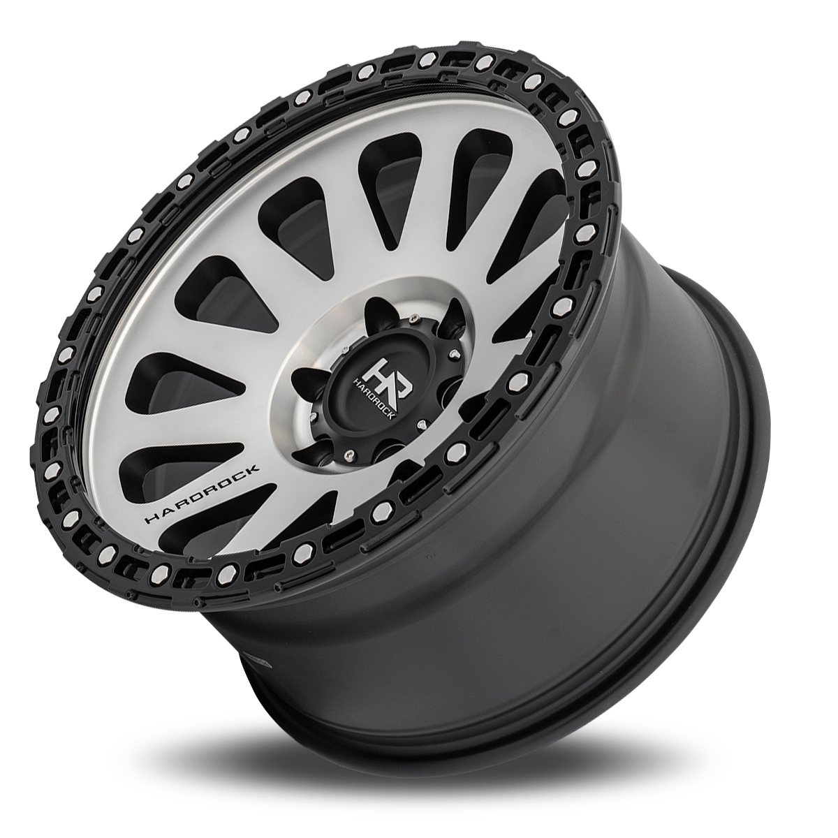 Hardrock Offroad H102 Matte Black Machine Face 17x9