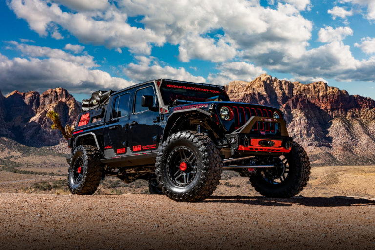 H103 20×9 Hardrock Offroad Wheels 2020 SEMA LS3 Swapped Jeep Gladiator Rubicon