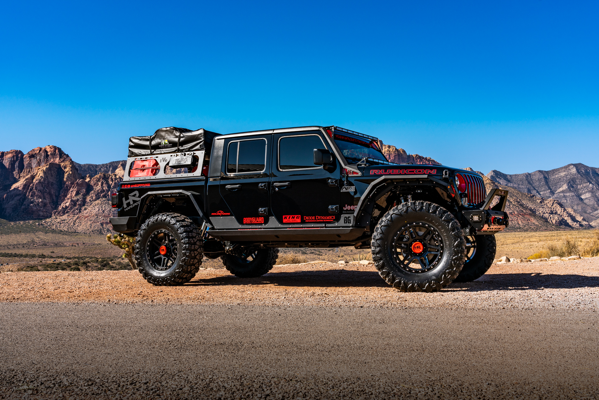 Hardrock 20×9 H103 on a 2020 LS3 Swapped Jeep Gladiator ...
