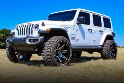 H502 PainKiller 24x14 Hardrock Offroad Wheels Jeep Wrangler Sahara JL