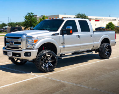 H502 PainKiller 24x14 Hardrock Offroad Wheels Lifted Ford F250 Lariat