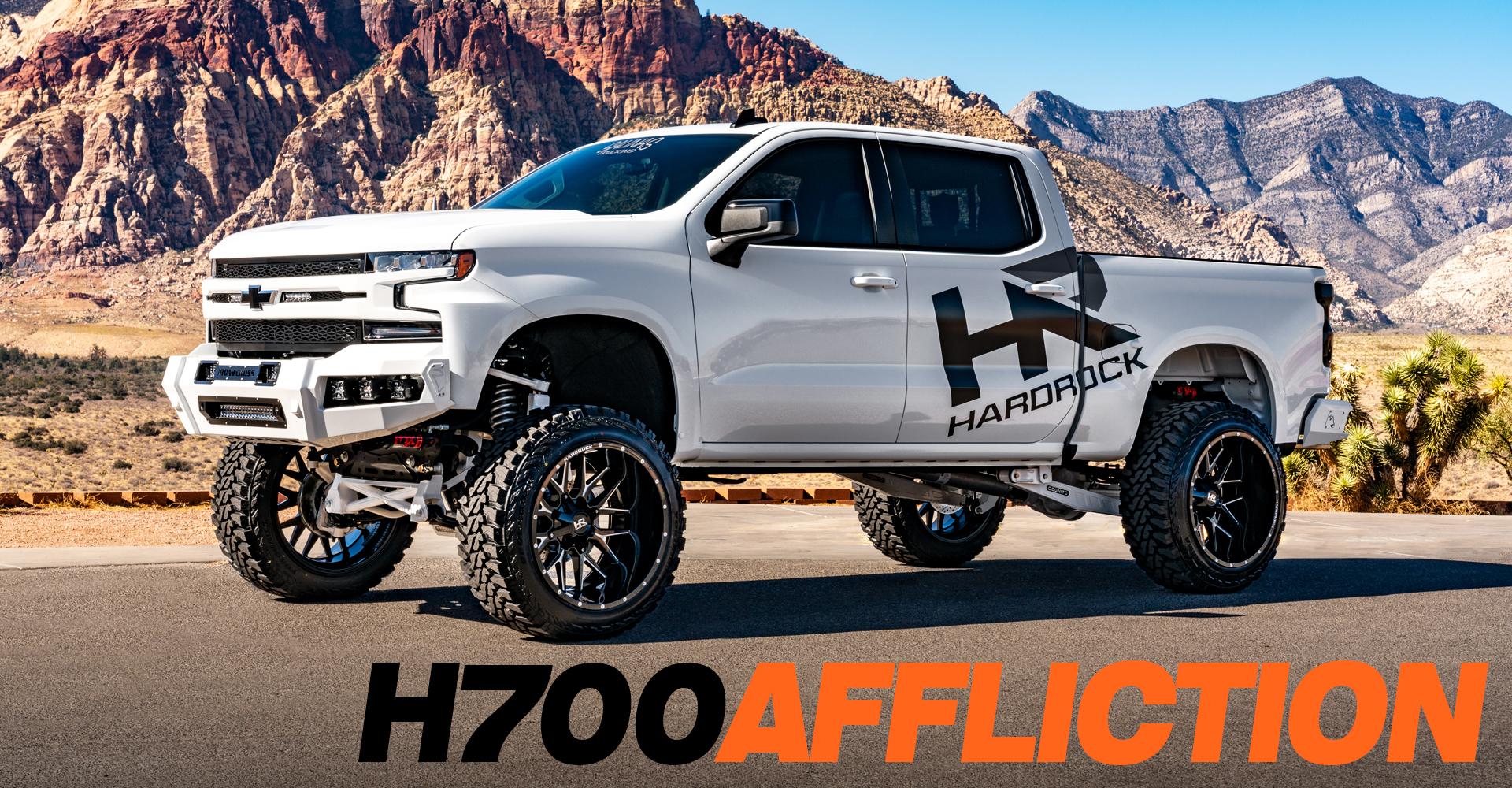 H700 Affliction 24x14 Hardrock Offroad Wheels Lifted Chevrolet Silverado SEMA 2019