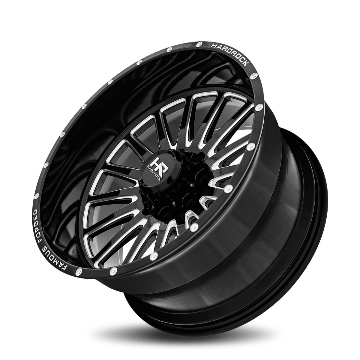 Famous Forged H802 26x14 Gloss Black Milled