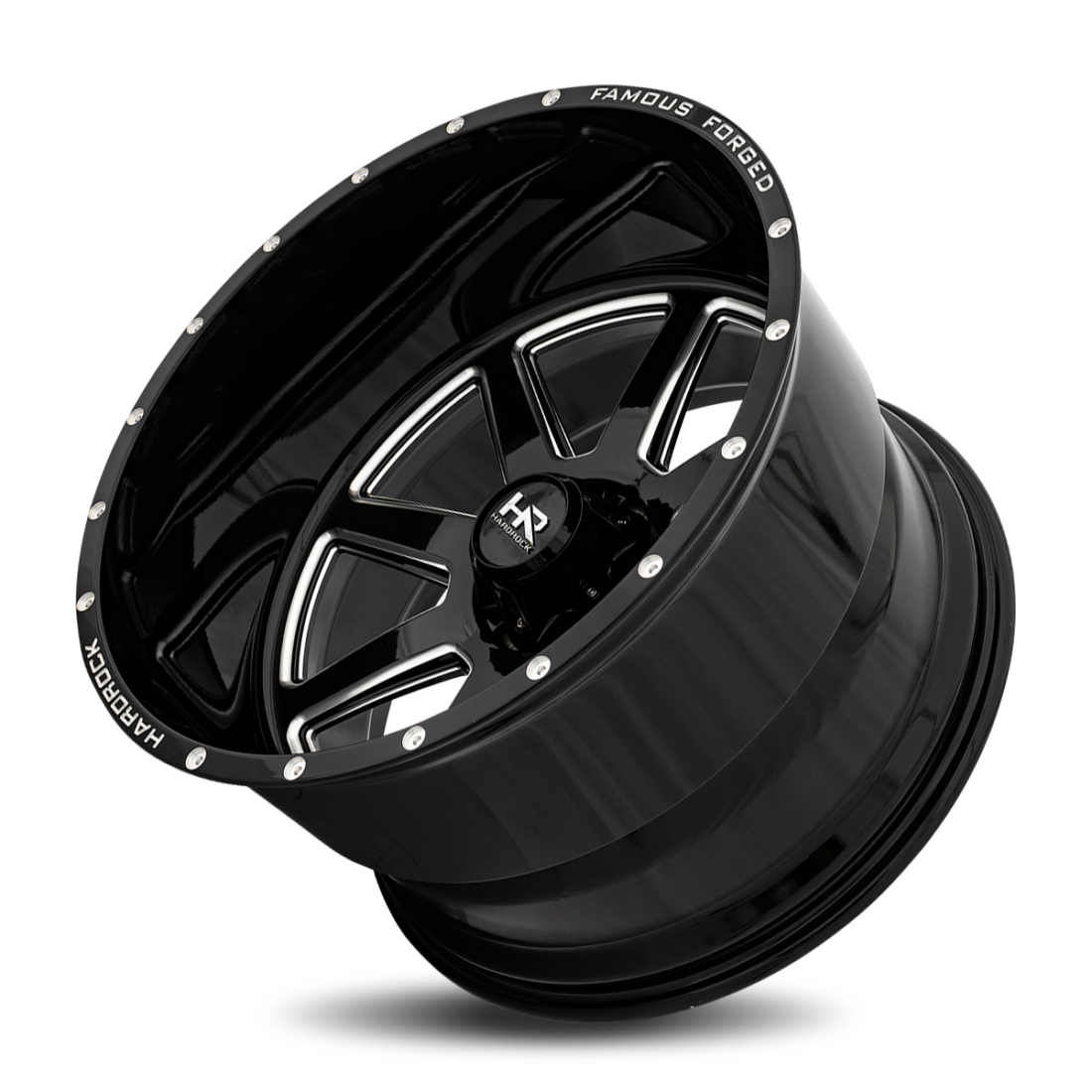Famous Forged H803 26x14 Gloss Black Milled