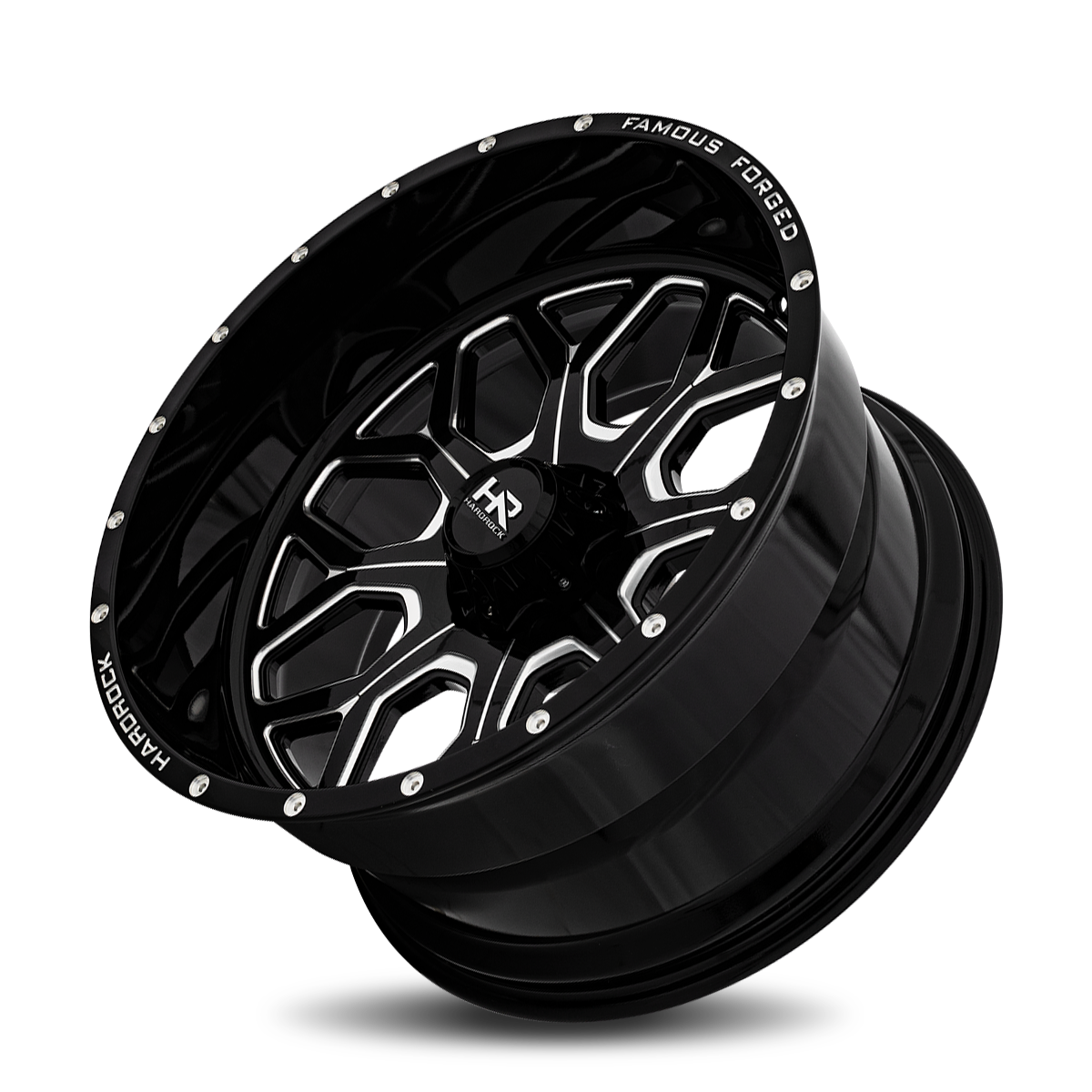 Famous Forged H804 26x14 Gloss Black Milled