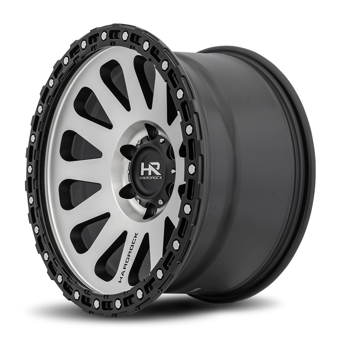 Hardrock Offroad Wheels H102 - Black Machine Face - 17x9
