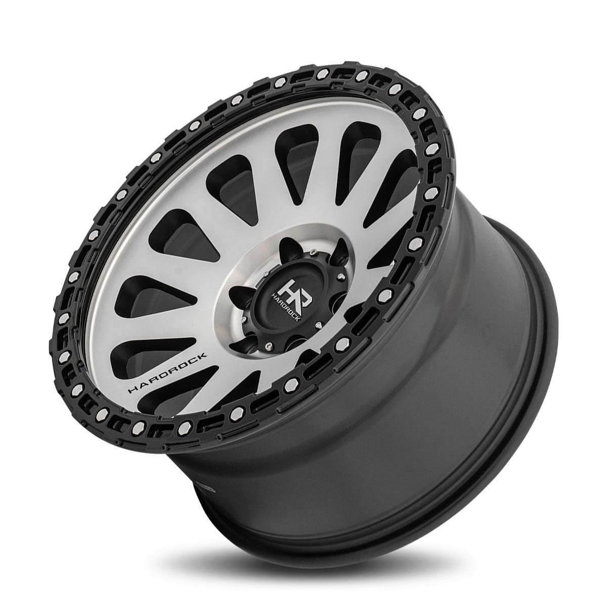 Hardrock Offroad H102 17x9 Matte Machine-Black B/L