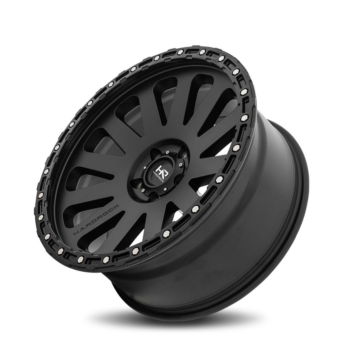 Hardrock Offroad H102 20x9 Matte Black-Black B/L
