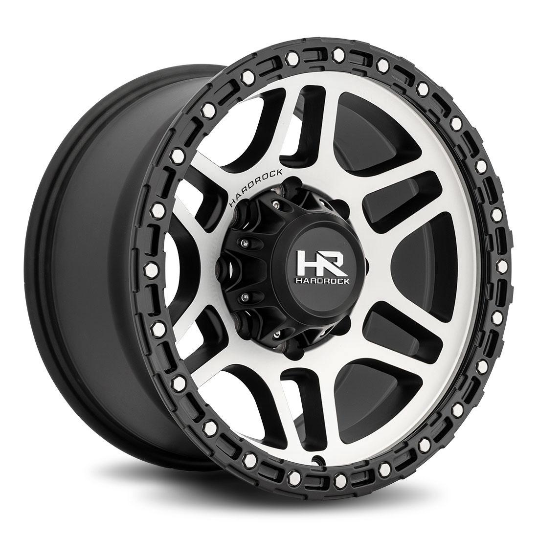 Hardrock Offroad Wheels H103 - Black Machine Face - 17x9