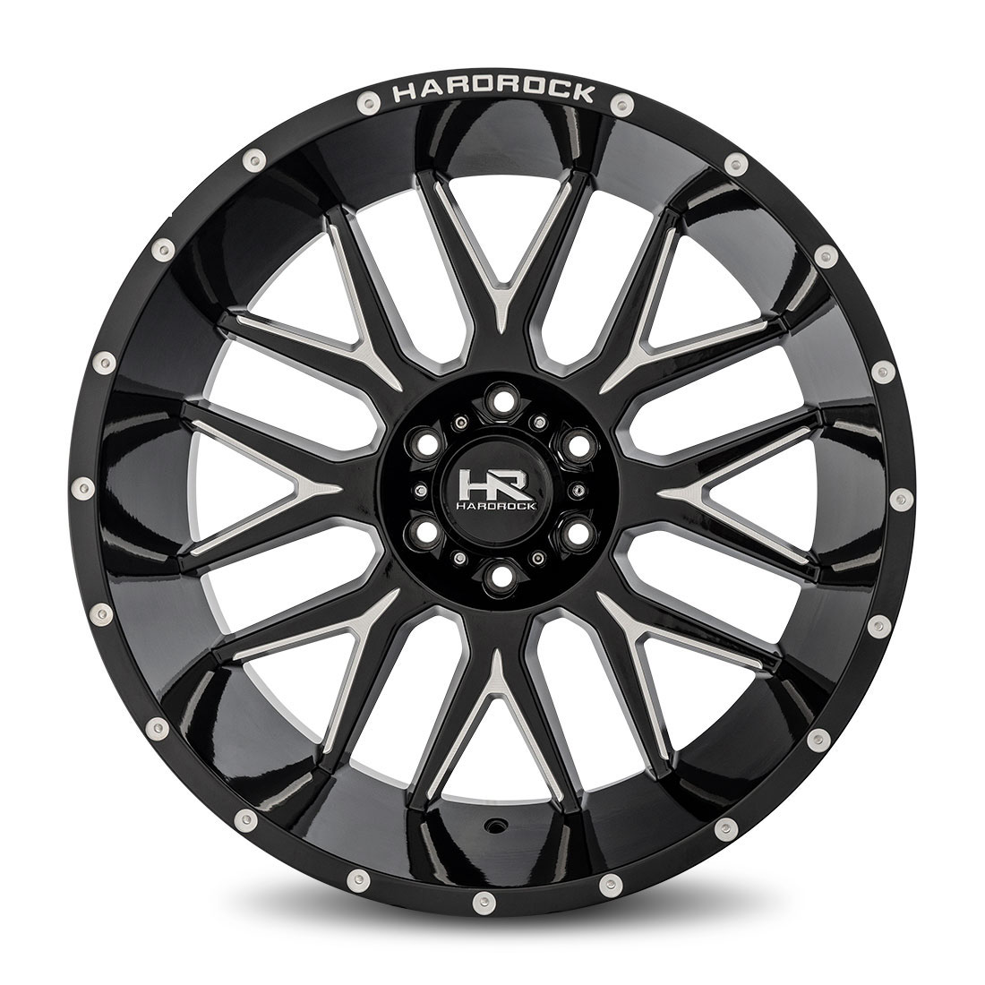 Hardrock Offroad Wheels H500 Affliction-Xposed - Gloss Black Milled - 22x12