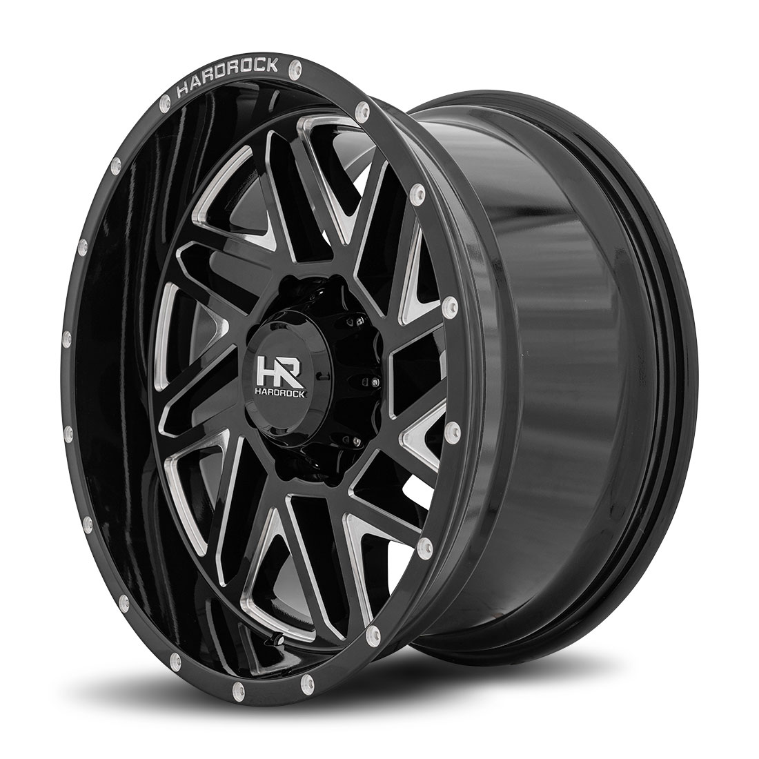 Hardrock Offroad Wheels H501 Bones-Xposed - Gloss Black Milled - 20x10