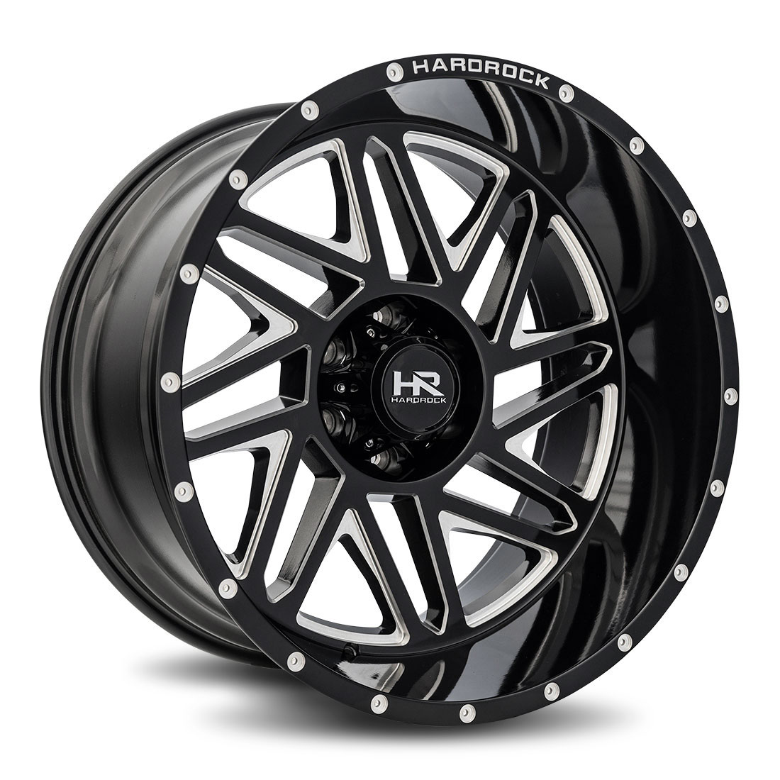 Hardrock Offroad Wheels H501 Bones-Xposed - Gloss Black Milled - 22x12