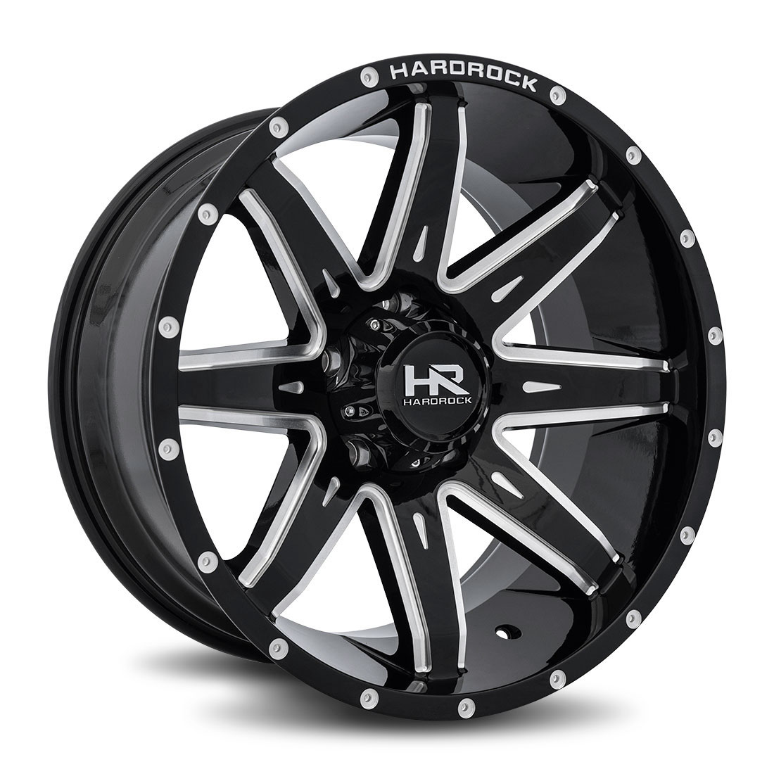 Hardrock Offroad Wheels H502 Painkiller-Xposed - Gloss Black Milled - 20x10