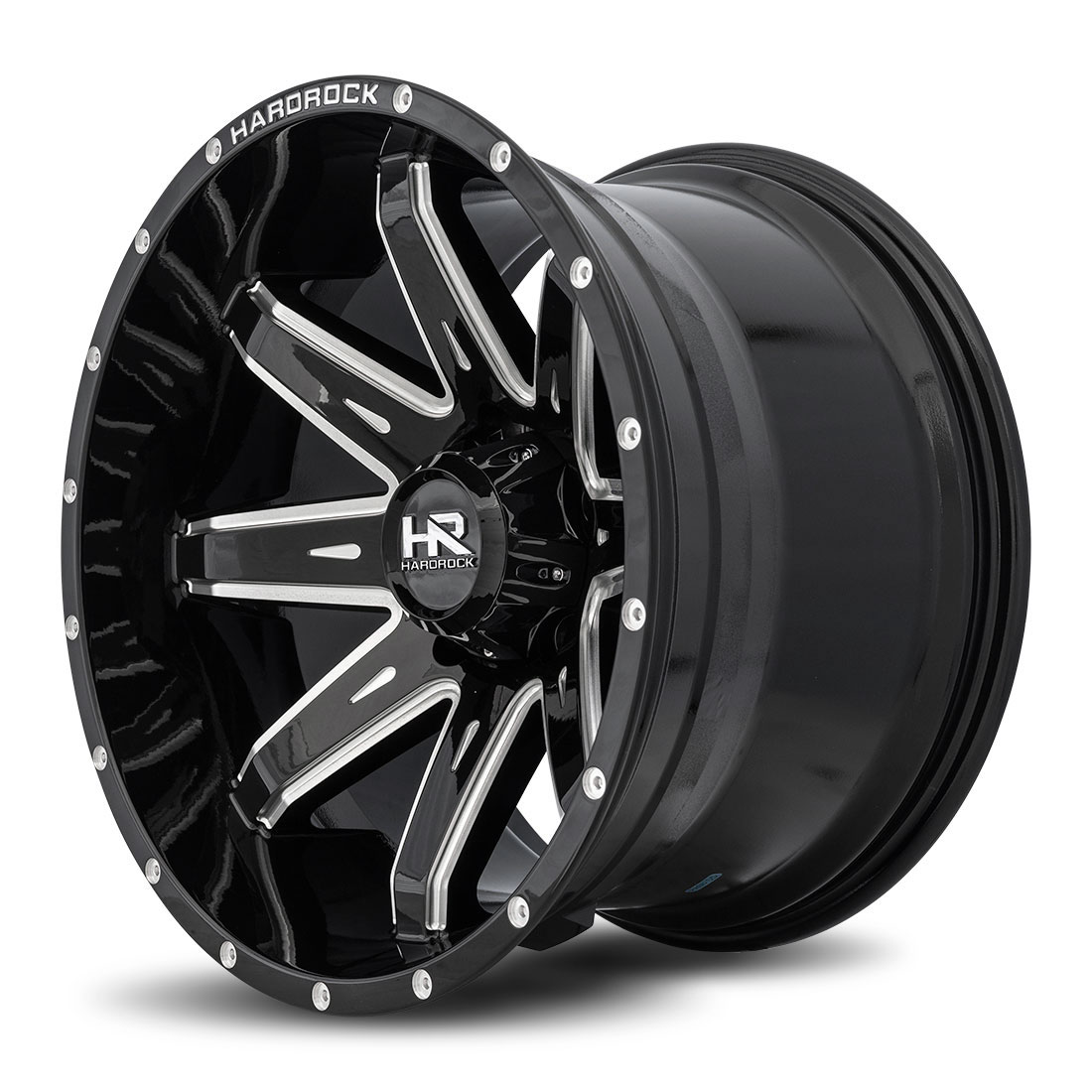 Hardrock Offroad Wheels H502 Painkiller-Xposed - Gloss Black Milled - 20x12