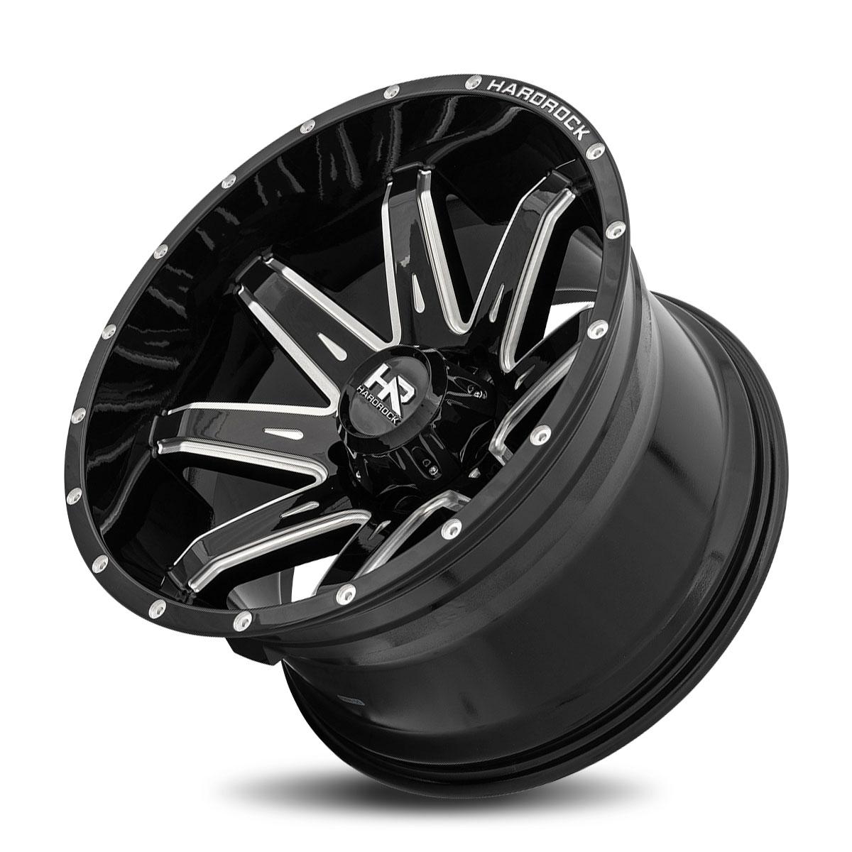 Hardrock Offroad H502 20x12 Gloss Black Milled