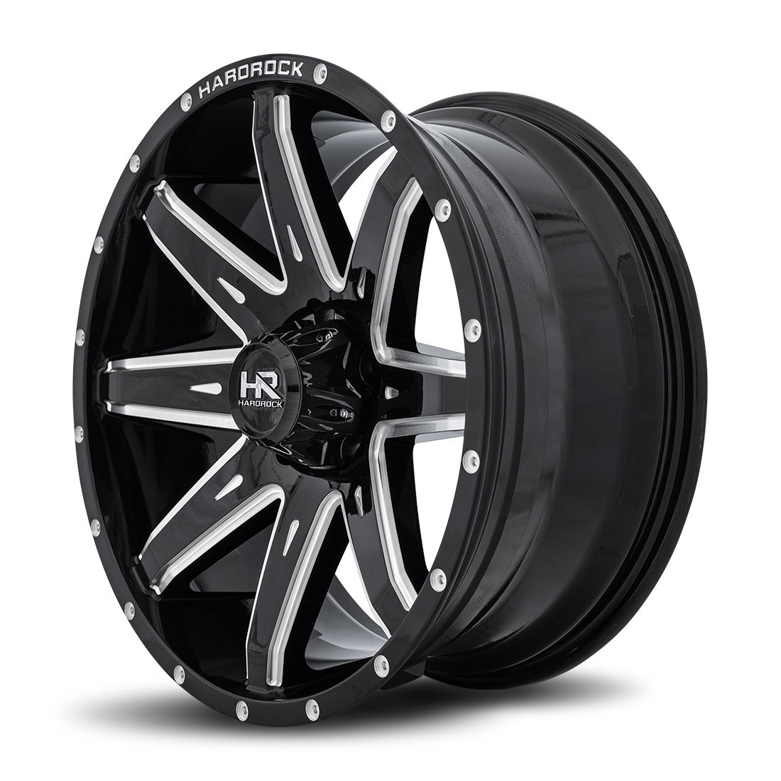 Hardrock Offroad Wheels H502 Painkiller-Xposed - Gloss Black Milled - 20x9