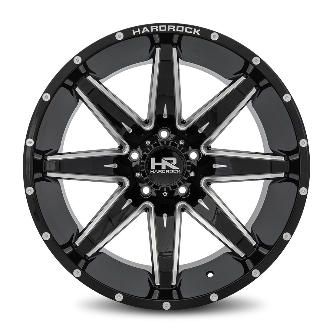 Hardrock Offroad Wheels H502 Painkiller-Xposed - Gloss Black Milled - 22x12