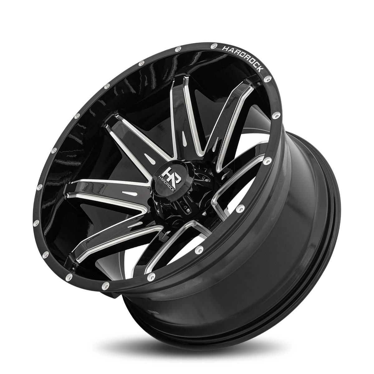Hardrock Offroad H502 22x12 Gloss Black Milled