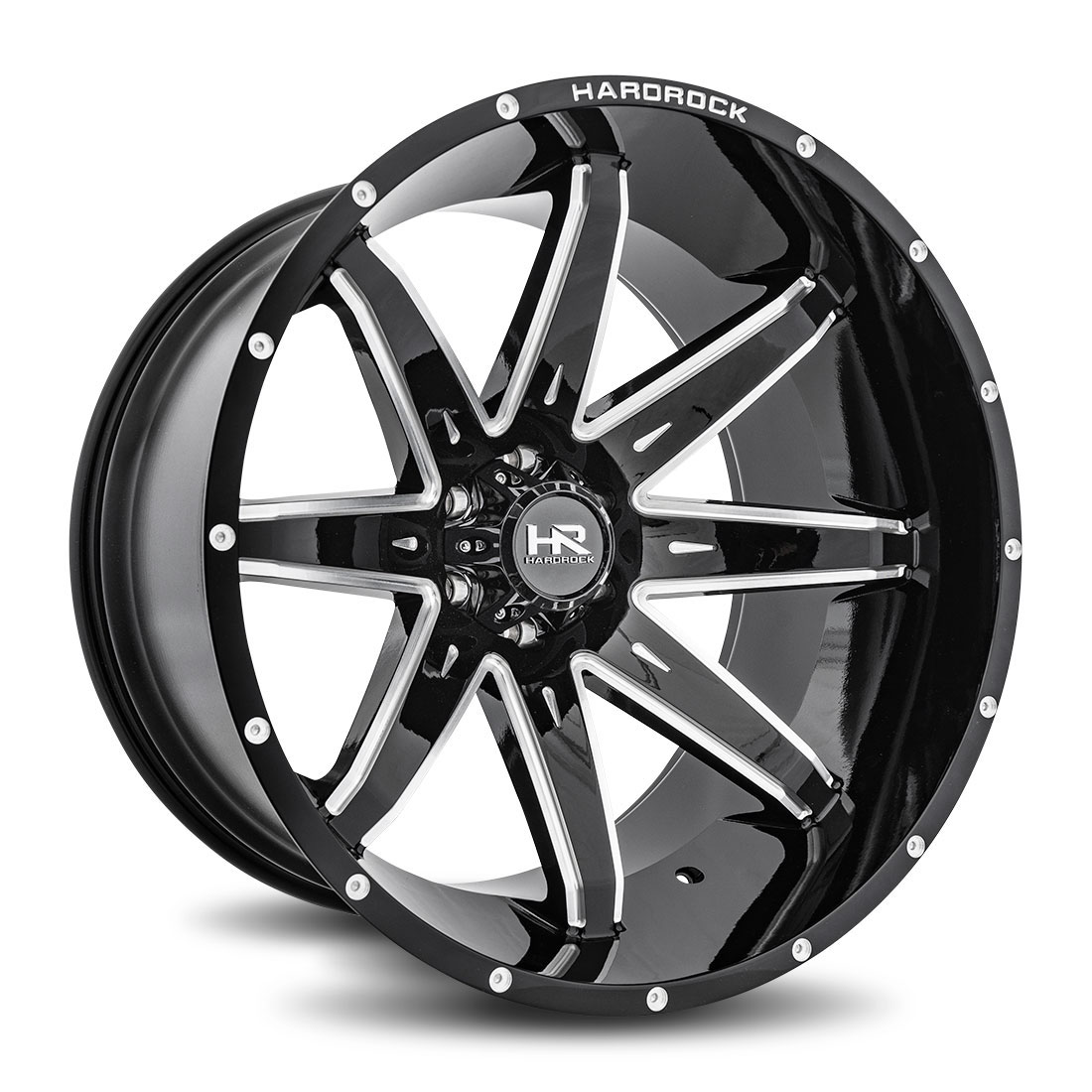 Hardrock Offroad Wheels H502 Painkiller-Xposed - Gloss Black Milled - 24x14