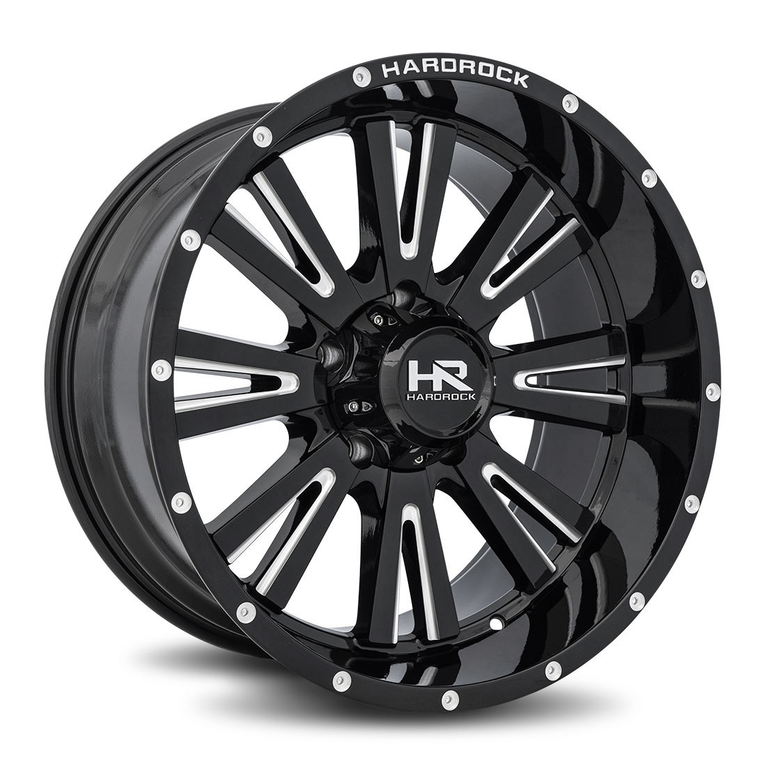 Hardrock Offroad Wheels H503 Spine-Xposed - Gloss Black Milled - 20x10