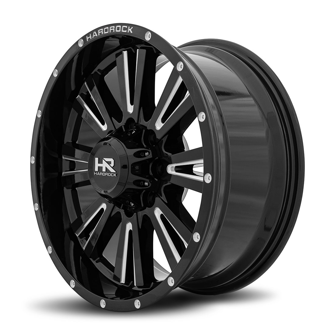 Hardrock Offroad Wheels H503 Spine-Xposed - Gloss Black Milled - 20x9
