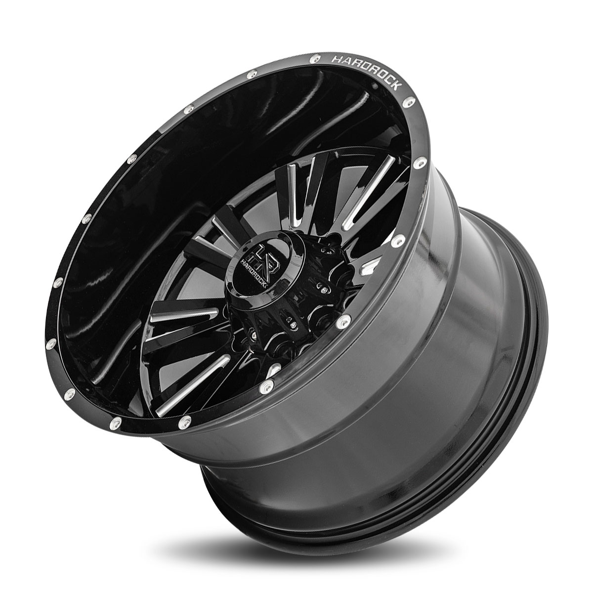 Hardrock Offroad H503 22x12 Gloss Black Milled