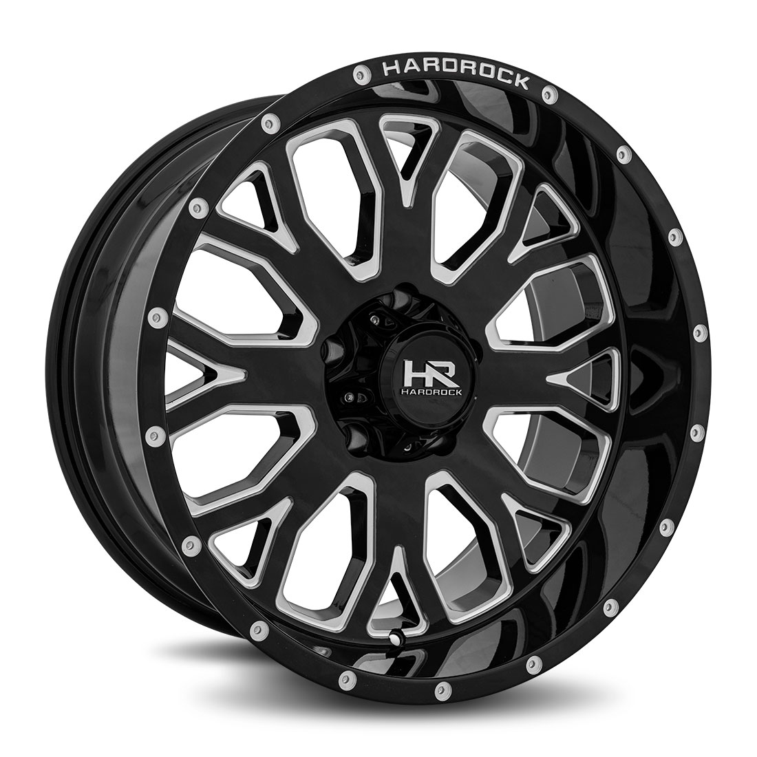 Hardrock Offroad Wheels H504 Slammer-Xposed - Gloss Black Milled - 20x10