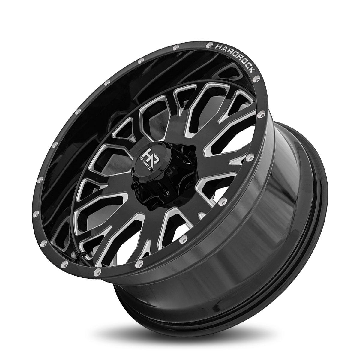 Hardrock Offroad H504 20x10 Gloss Black Milled