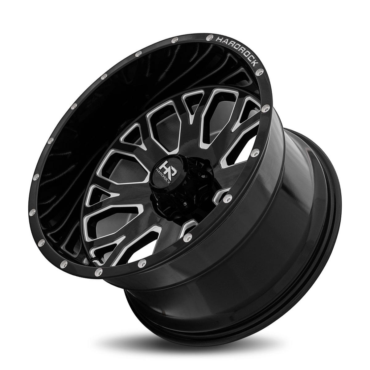 Hardrock Offroad H504 20x12 Gloss Black Milled