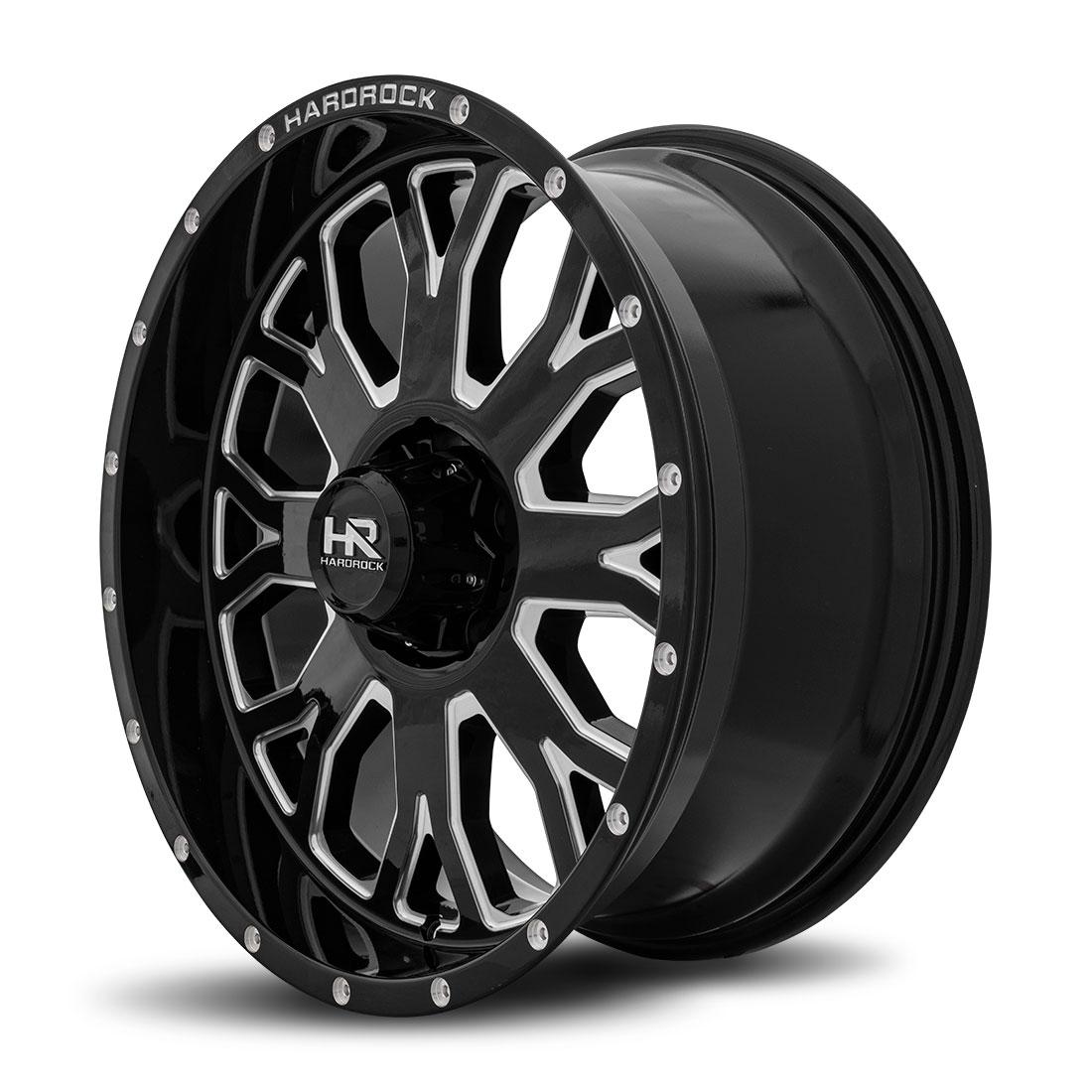 Hardrock Offroad Wheels H504 Slammer-Xposed - Gloss Black Milled - 20x9