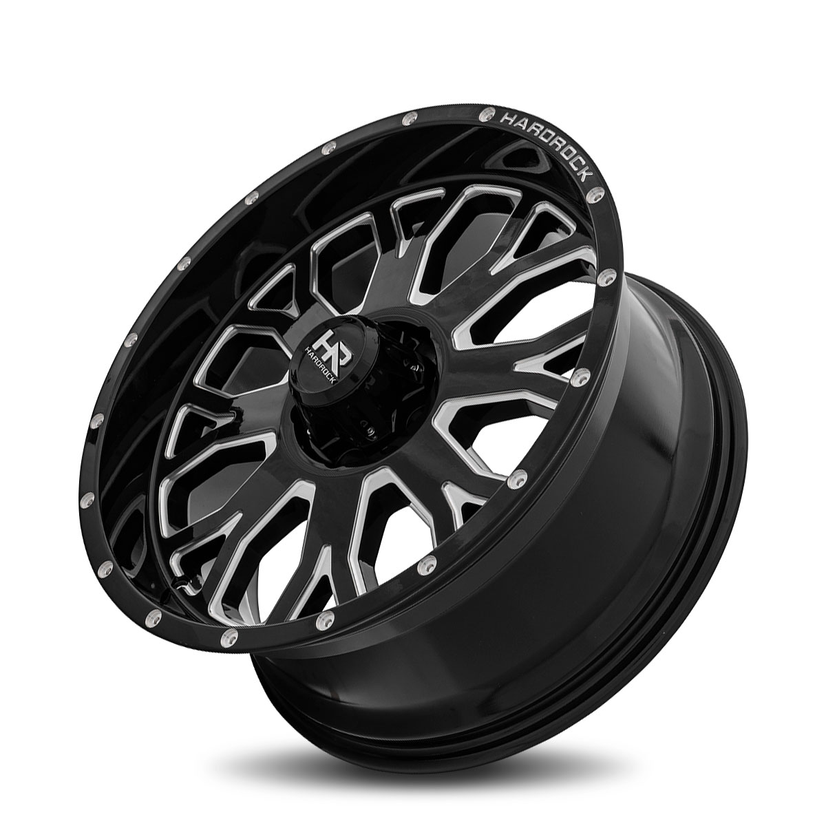 Hardrock Offroad H504 20x9 Gloss Black Milled