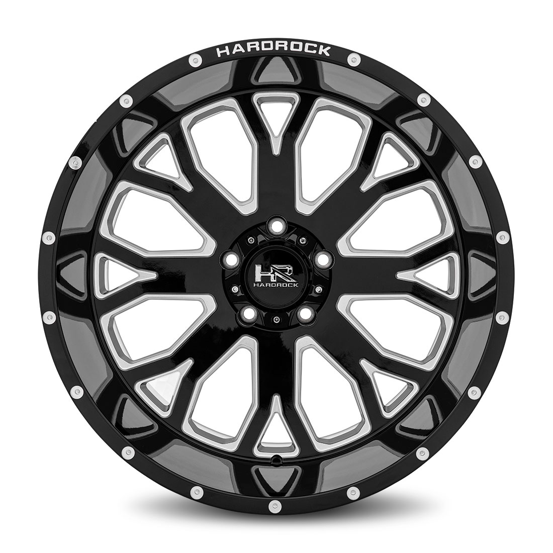 Hardrock Offroad Wheels H504 Slammer-Xposed - Gloss Black Milled - 22x12