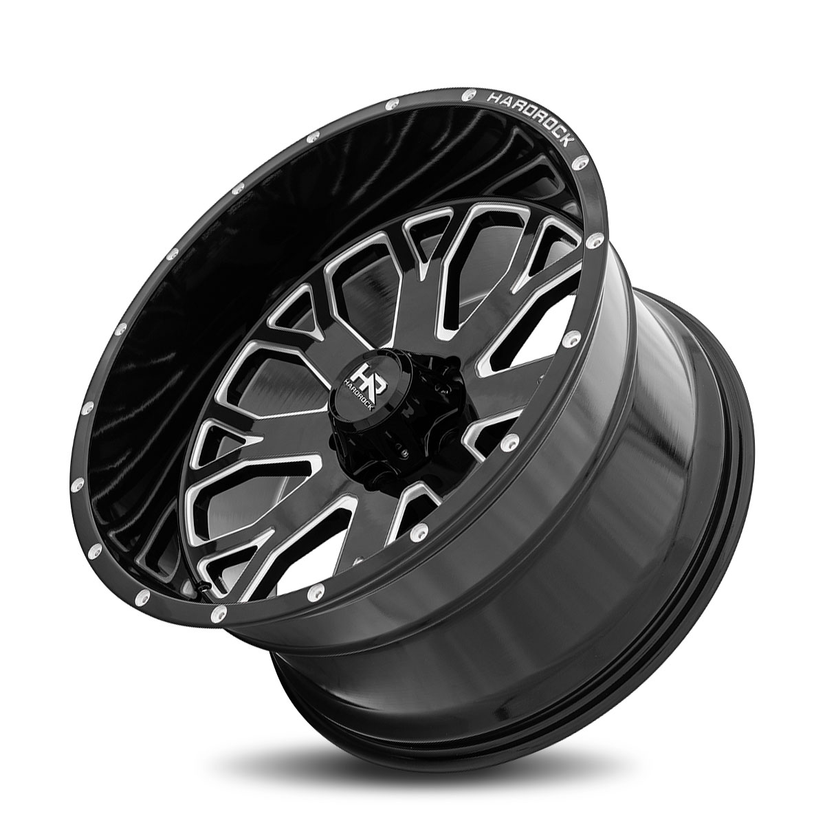 Hardrock Offroad H504 22x12 Gloss Black Milled
