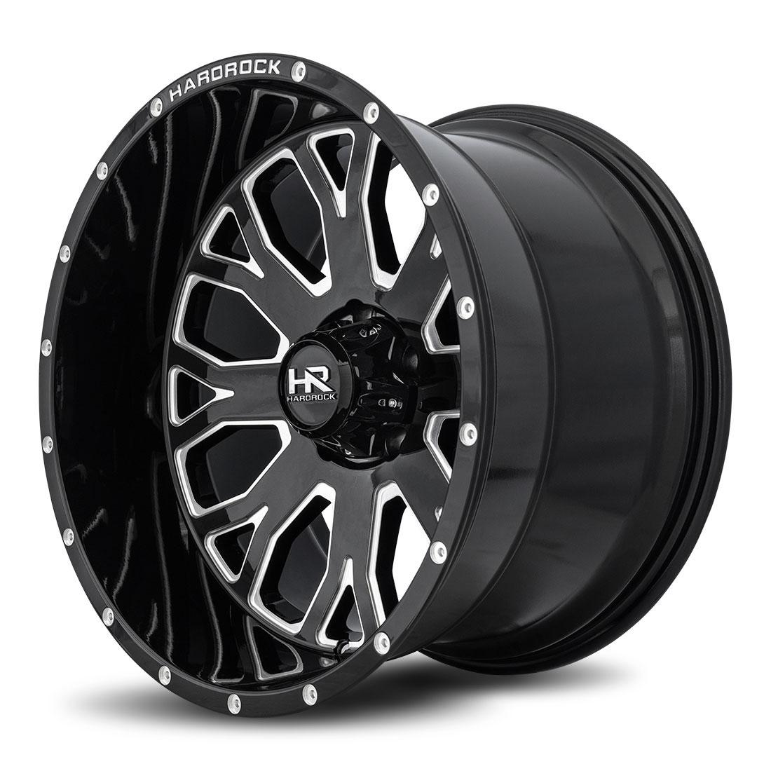 Hardrock Offroad Wheels H504 Slammer-Xposed - Gloss Black Milled - 24x12
