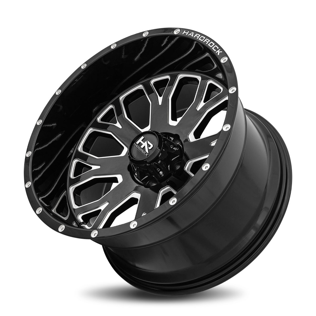 Hardrock Offroad H504 24x12 Gloss Black Milled