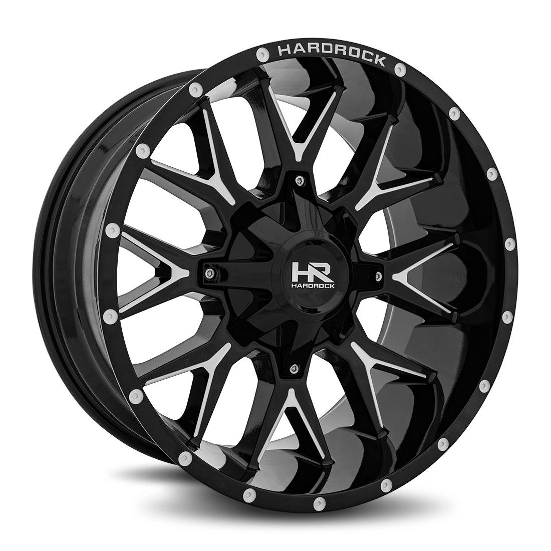 Hardrock Offroad Wheels H700 Affliction - Gloss Black Milled - 20x10