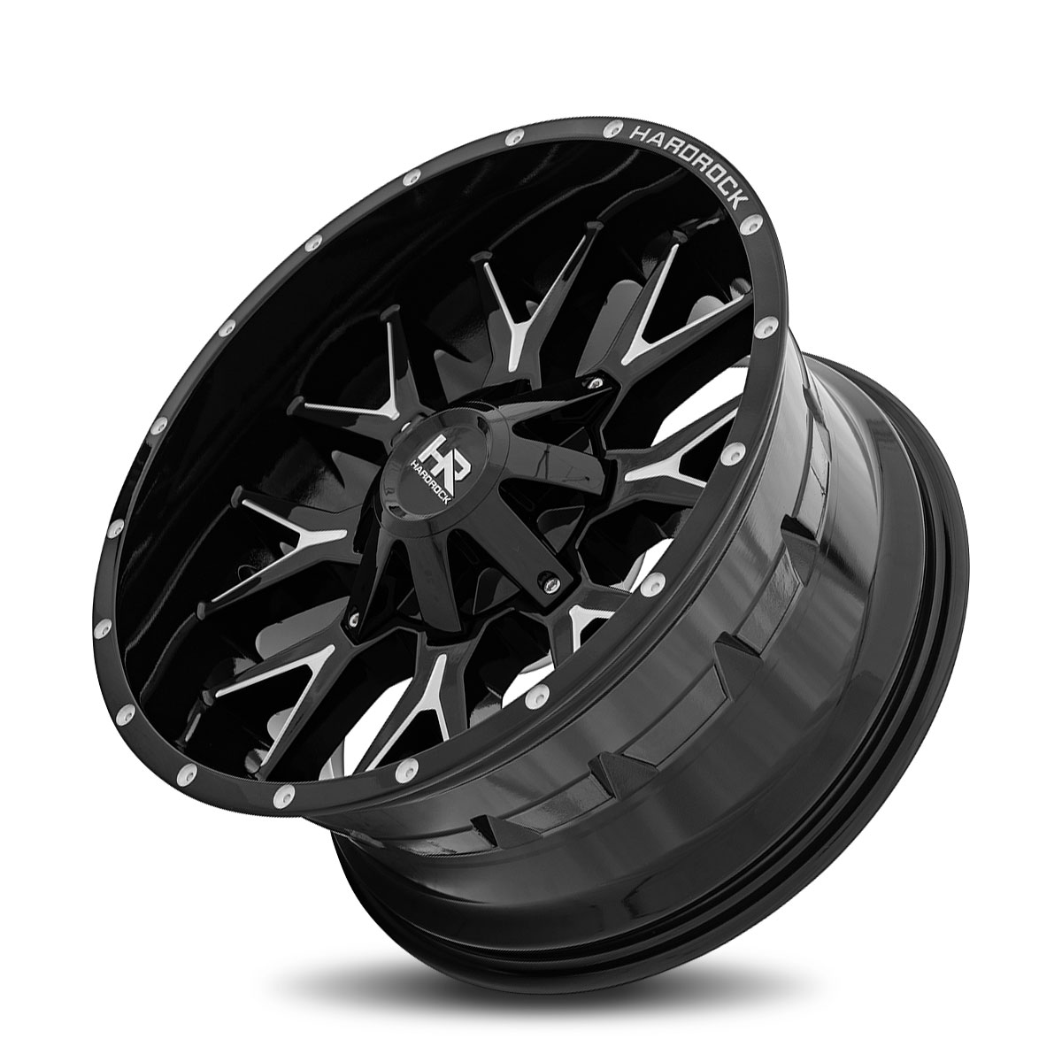 Hardrock Offroad H700 20x10 Gloss Black Milled