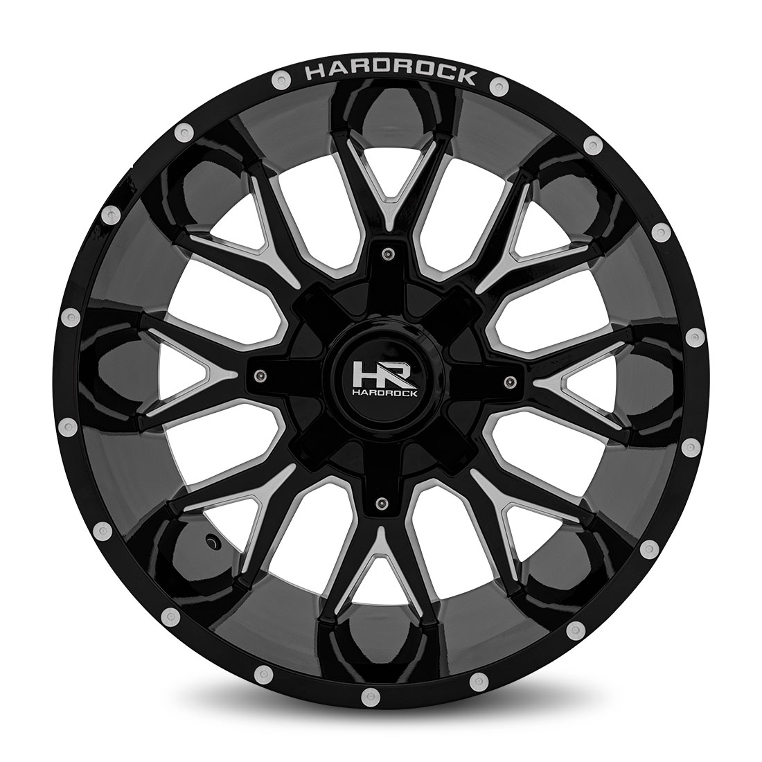 Hardrock Offroad Wheels H700 Affliction - Gloss Black Milled - 20x12