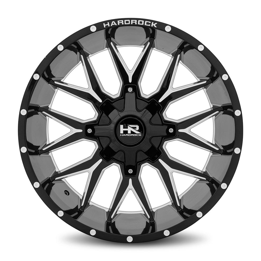 Hardrock Offroad Wheels H700 Affliction - Gloss Black Milled - 22x10