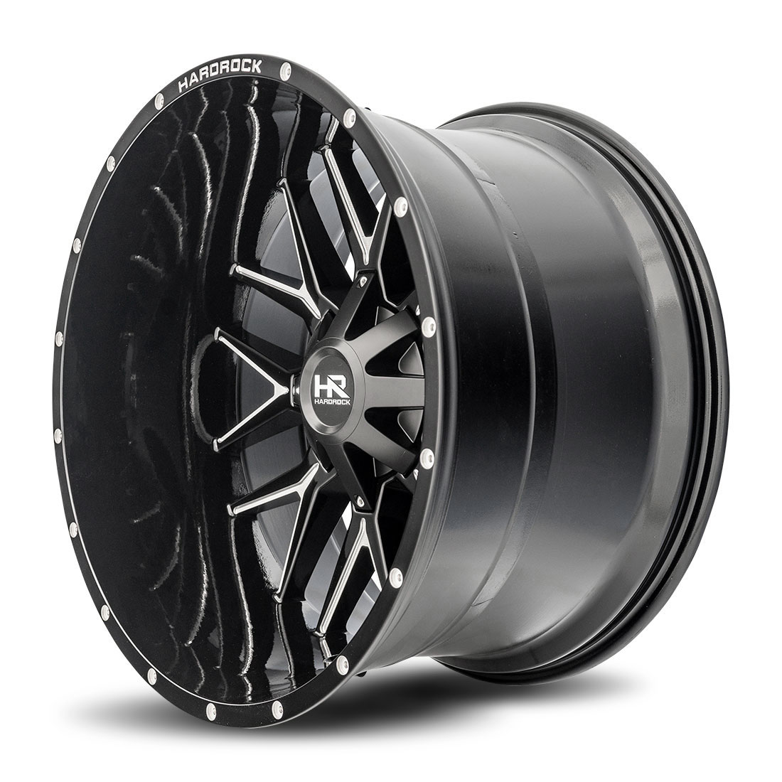Hardrock Offroad Wheels H700 Affliction - Gloss Black Milled - 24x14