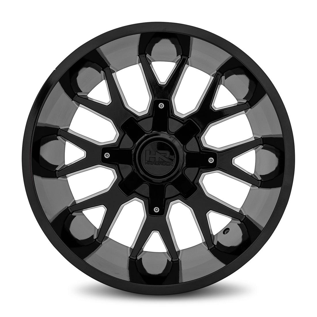 Hardrock Offroad Wheels H700 Affliction - Gloss Black - 20x12