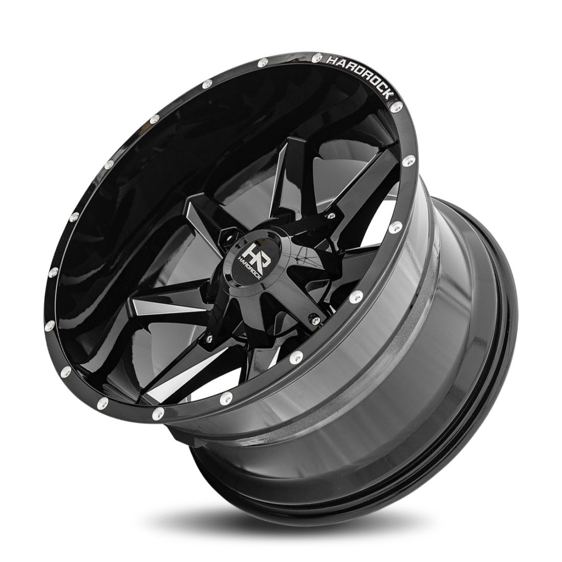 Hardrock Offroad H703 20x12 Gloss Black Milled