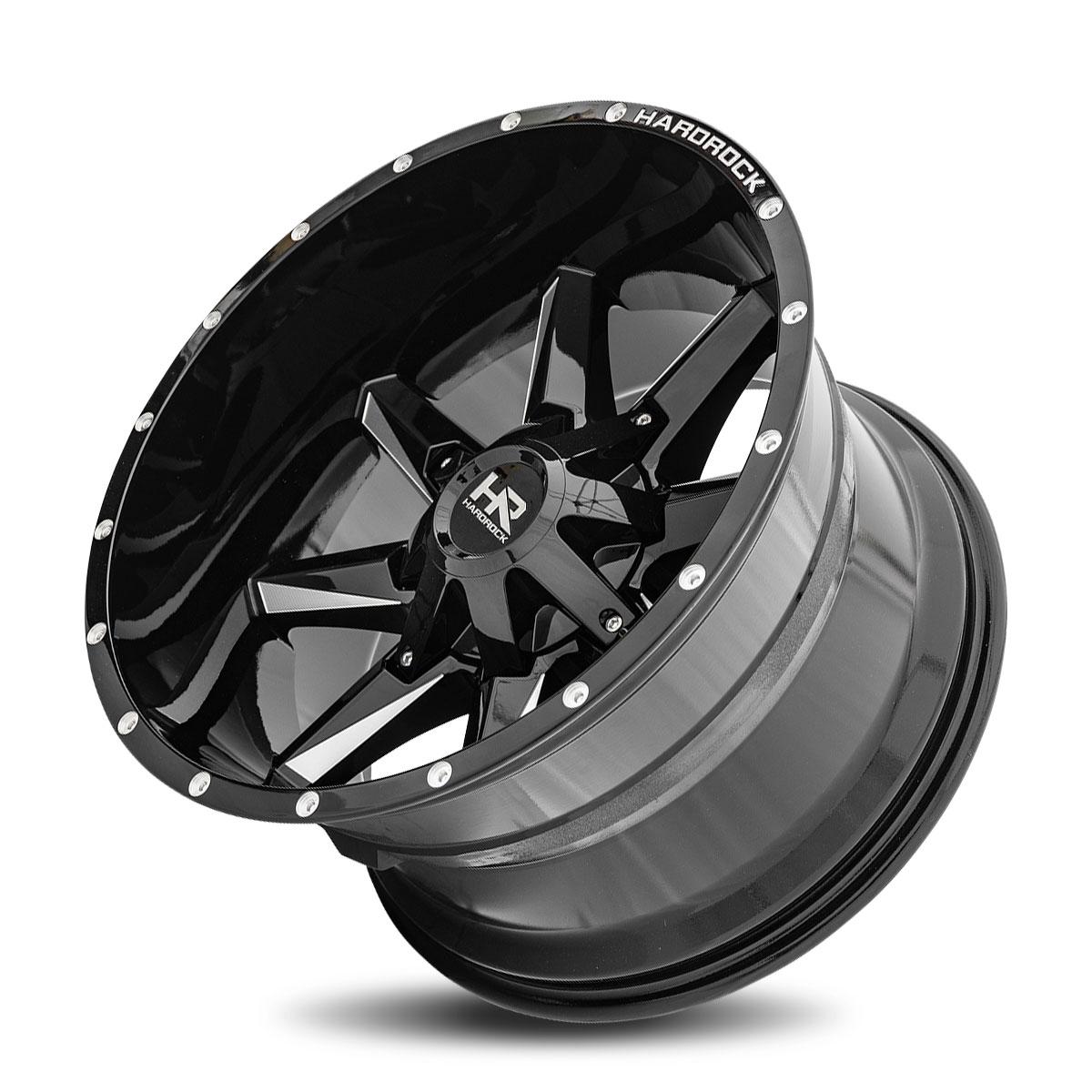 Hardrock Offroad H703 20x12 Gloss Black Milled