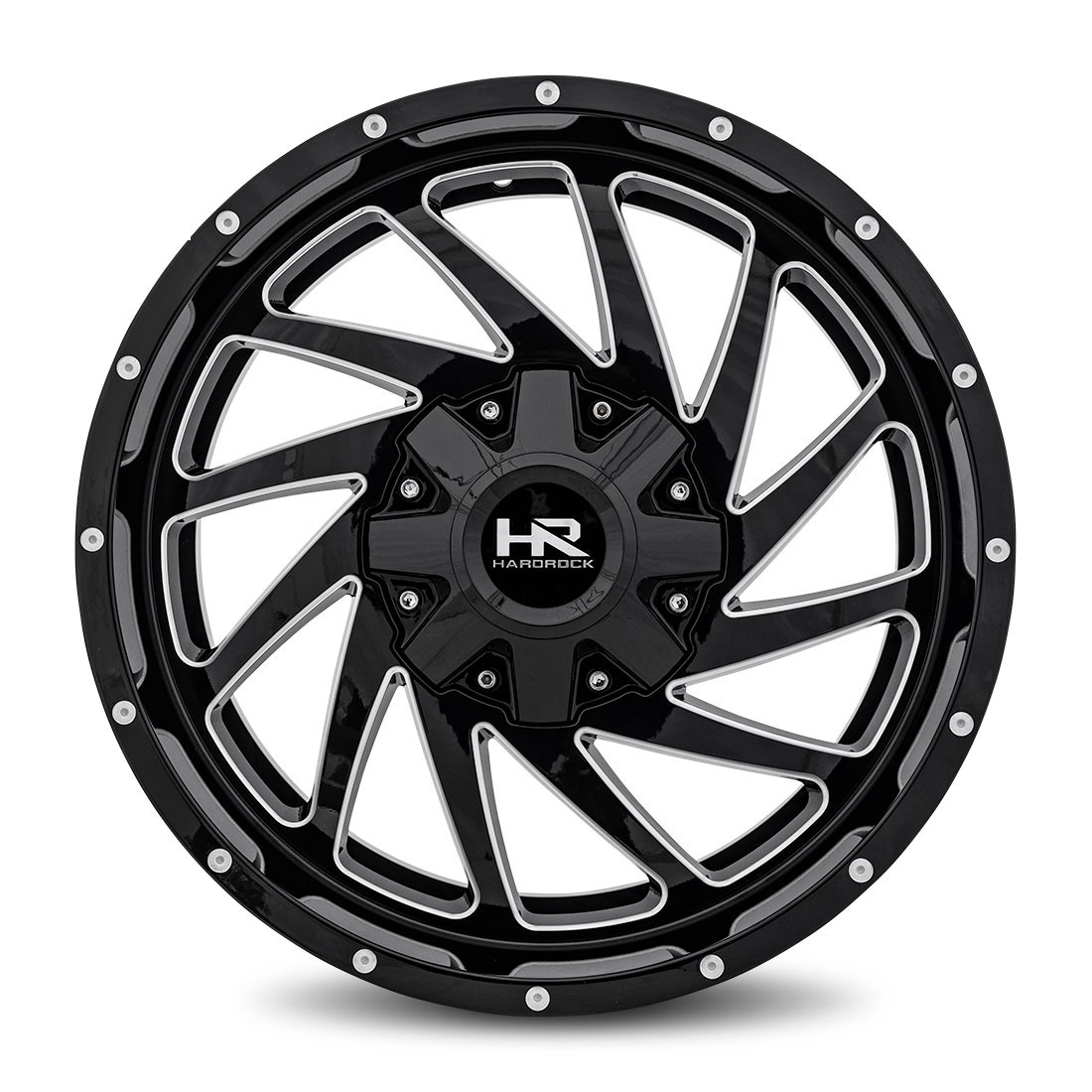 Hardrock Offroad Wheels H704 Crusher - Gloss Black Milled - 20x9