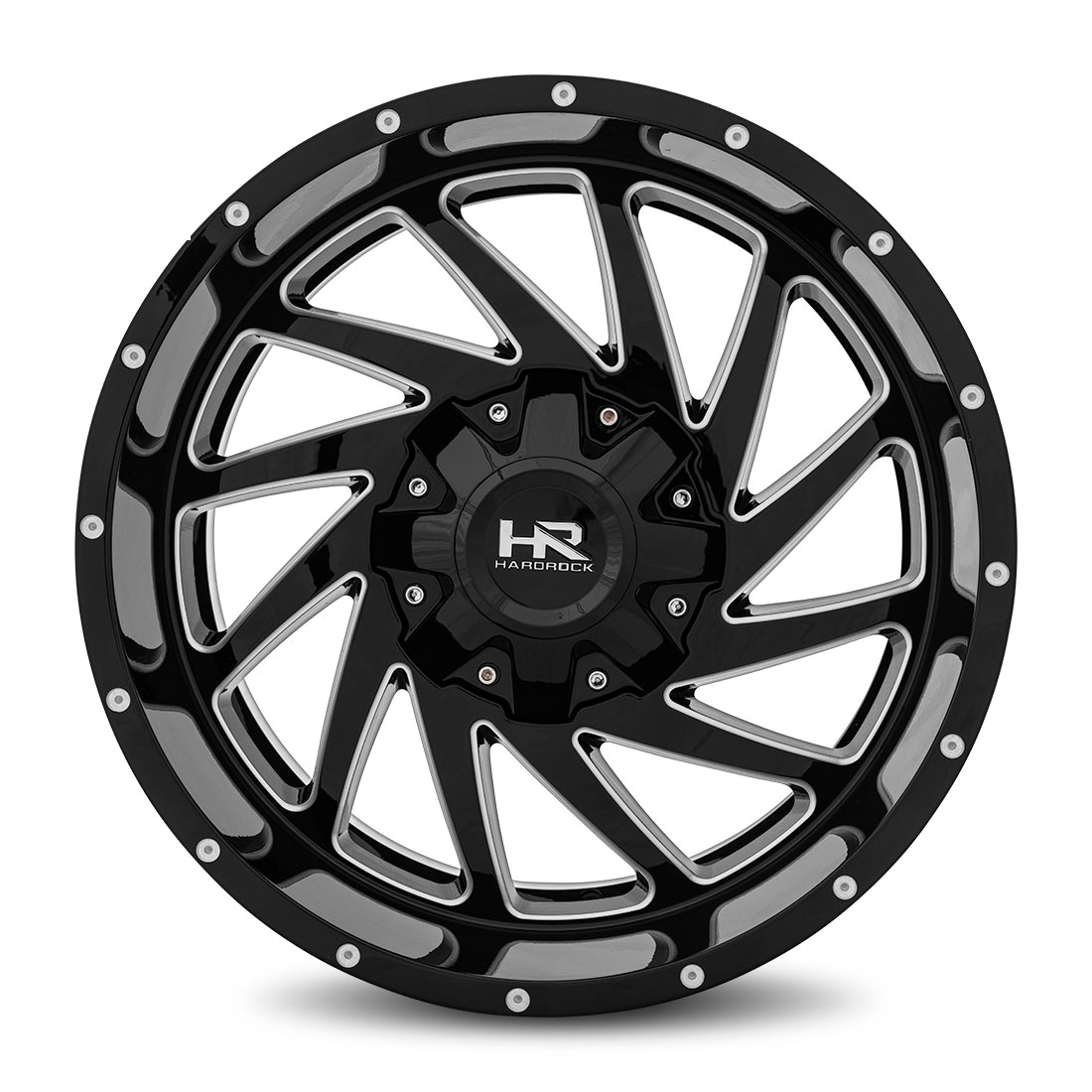 Hardrock Offroad Wheels H704 Crusher - Gloss Black Milled - 20x10
