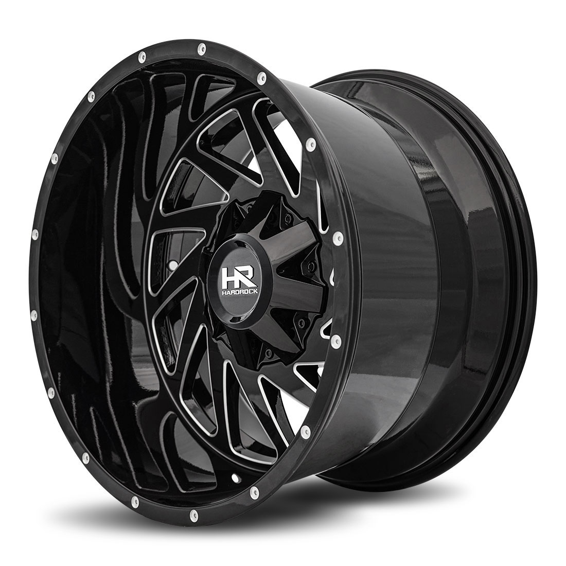 Hardrock Offroad Wheels H704 Crusher - Gloss Black Milled - 20x12