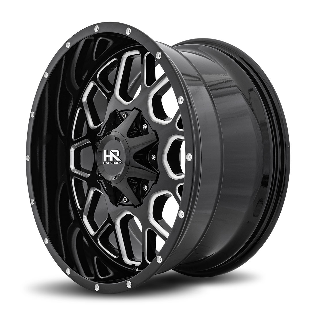 Hardrock Offroad Wheels H705 Gunner - Gloss Black Milled - 20x10